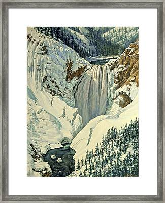 Lower Falls-april Framed Print by Paul Krapf