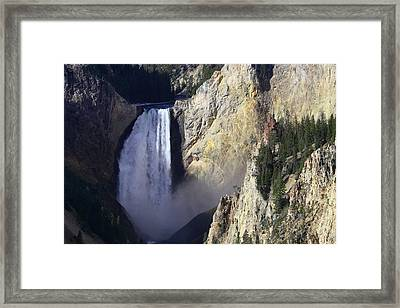 Framed Print featuring the photograph Lower Falls by David Andersen