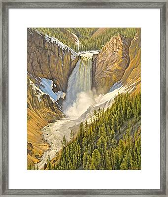 Lower Falls-may   Framed Print by Paul Krapf