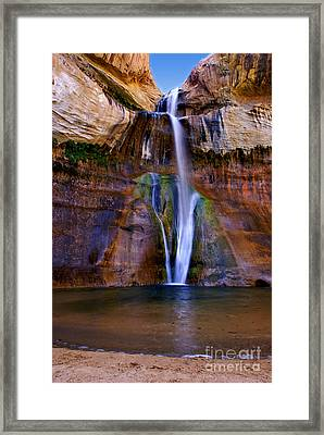 Lower Falls Of Calf Creek Framed Print