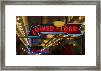 Lower Floor And Salmon Framed Print by Scott Campbell