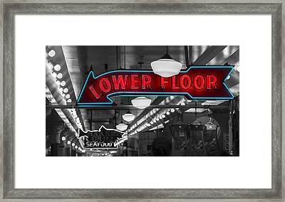Lower Floor Selective Black And White Framed Print by Scott Campbell