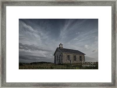Lower Fox Creek School  Framed Print by Keith Kapple