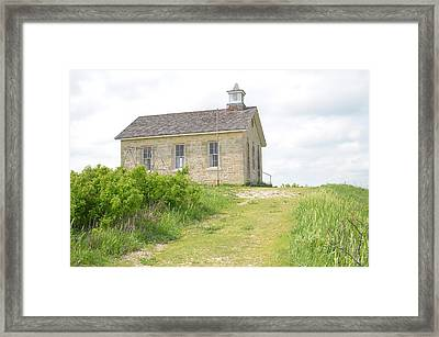 Lower Fox Creek School No.5 Framed Print by Christine Belt