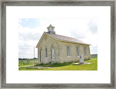 Lower Fox Creek School No.6 Framed Print by Christine Belt