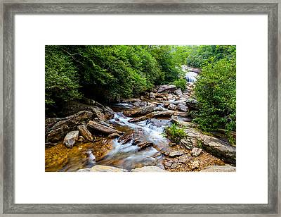 Lower Graveyard Falls Framed Print by David Cote