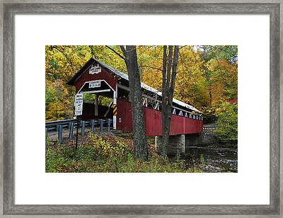 Lower Humbert Covered Bridge Framed Print