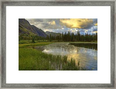 Framed Print featuring the photograph Lower Ice Lake by Alan Vance Ley