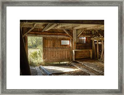 Lower Level Of The Barn Framed Print