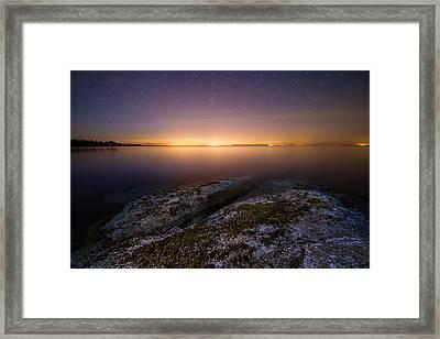 Lower Mainland Glow Framed Print by James Wheeler