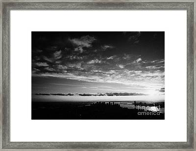 Lower Manhattan And Hudson River Skyline New York City Framed Print