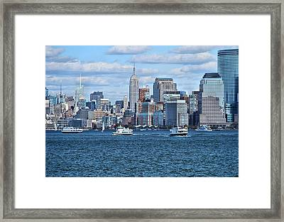 Lower Manhattan Framed Print by Dan Sproul
