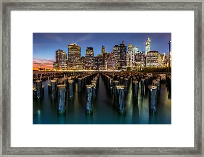 Lower Manhattan Framed Print by Mihai Andritoiu