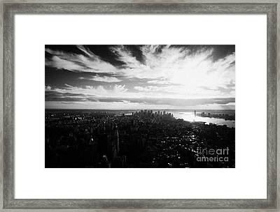 Lower Manhattan New York City Usa Framed Print by Joe Fox
