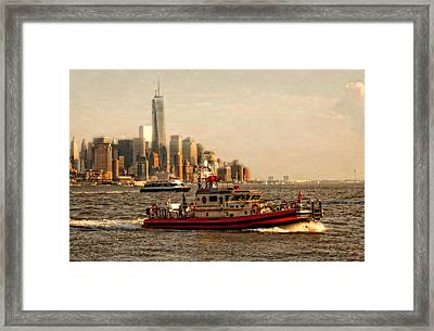 Lower Manhattan New York Framed Print
