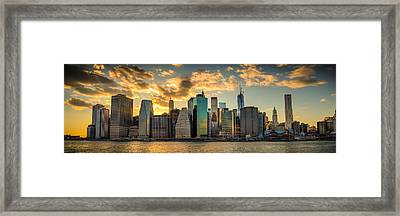 Lower Manhattan Sunset 3-1 Framed Print