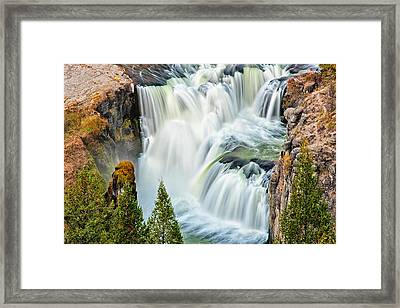 Lower Mesa Falls Framed Print by Joan Herwig