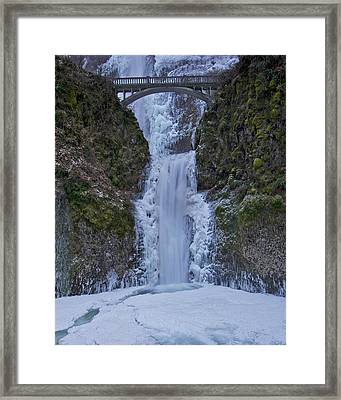 Framed Print featuring the photograph Lower Multnomah Falls 120813a by Todd Kreuter