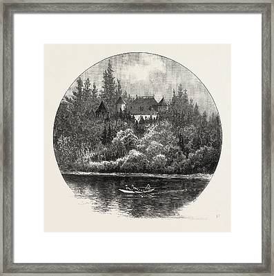 Lower Ottawa, Montebello, Home Of Papineau Framed Print