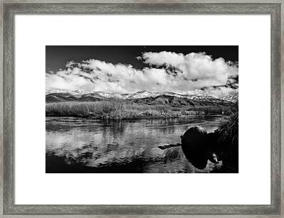 Lower Owens River Framed Print by Cat Connor