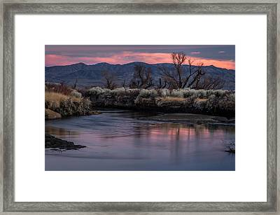 Lower Owens Sunset Framed Print by Cat Connor