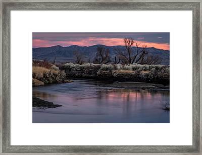 Lower Owens Sunset Framed Print