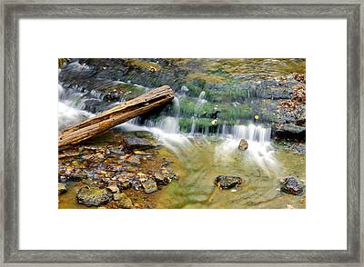 Lower Part Of Au Train Falls Framed Print by Optical Playground By MP Ray