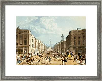 Lower Regent Street, Pub. By Ackermann Framed Print by Thomas Hosmer Shepherd