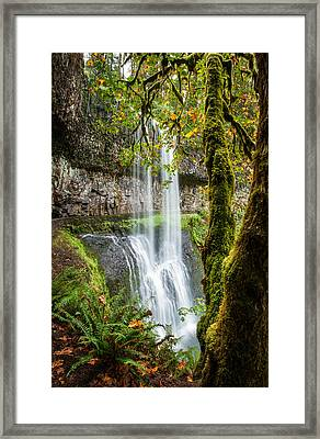 Framed Print featuring the photograph Lower South Falls by Brian Bonham