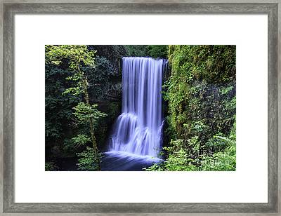 Lower South Falls Framed Print