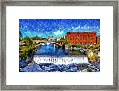 Lower Spokane Falls Framed Print