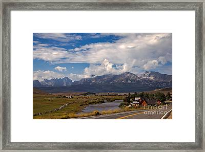 Lower Stanley  And The Valley Framed Print by Robert Bales