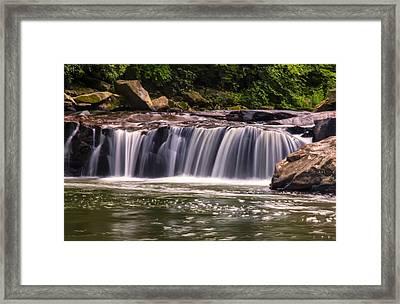 Lower Swallow Falls Center Section Framed Print