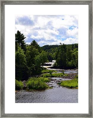 Lower Tahquamenon Falls Ll Framed Print by Michelle Calkins