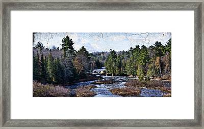 Lower Tahquamenon Falls Michigan Framed Print by Evie Carrier