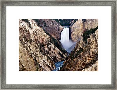 Lower Yellowstone Falls Framed Print by Bill Gallagher
