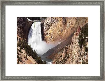 Lower Yellowstone Falls Eleven Framed Print