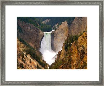 Framed Print featuring the photograph Lower Yellowstone Falls by Eric Tressler