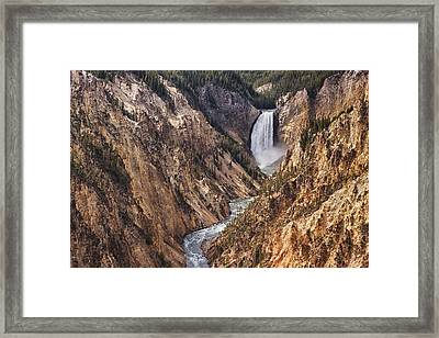Lower Yellowstone Falls Framed Print by Mark Kiver