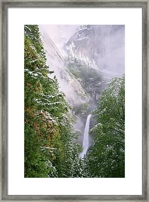 Lower Yosemite Falls After A Spring Storm Framed Print