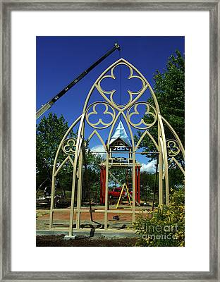 Lowering The Steeple Framed Print by Peter Piatt