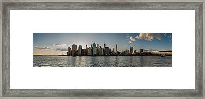 Lowerr Manhattan Panoramic Framed Print
