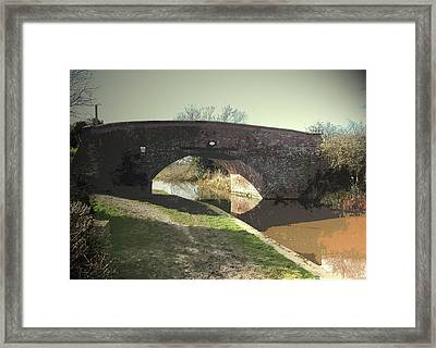 Lowes Bridge On The Trent And Mersey, Bridge Number 15 Framed Print by Litz Collection