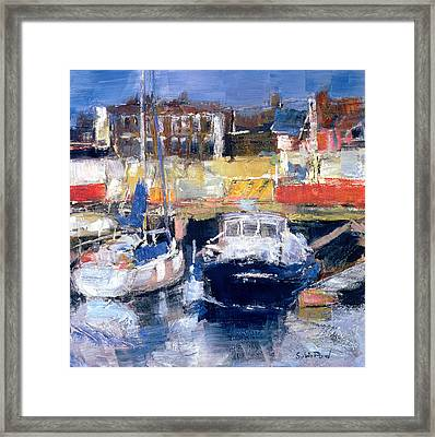 Lowestoft Harbour View Framed Print by Sylvia Paul