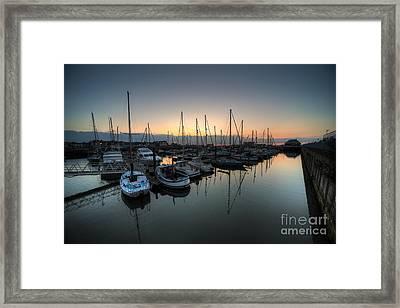 Lowestoft Marina At Dawn  Framed Print by Rob Hawkins