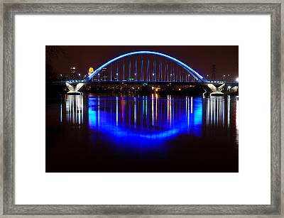 Framed Print featuring the photograph Lowry Bridge by RC Pics