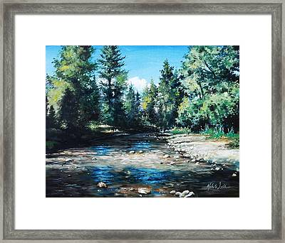 Lowry Creek Run Framed Print by Mike Worthen