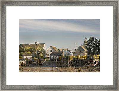 Lowtide In Port Clyde Maine Framed Print by Keith Webber Jr
