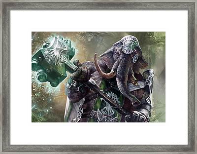 Loxodon Smiter Framed Print by Ryan Barger