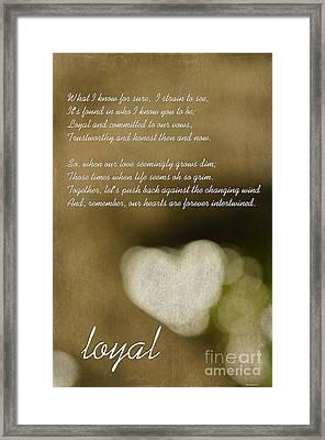 Loyal Framed Print by MaryJane Armstrong